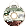 Rattail Cord 1.5mm 20 Yds With Re-useable Bobbin Light Chocolate